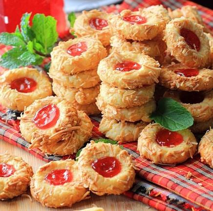 Resep Strawberry Cheese Thumbrint Cookies Resep Masakan Natal Kue Kering Resep
