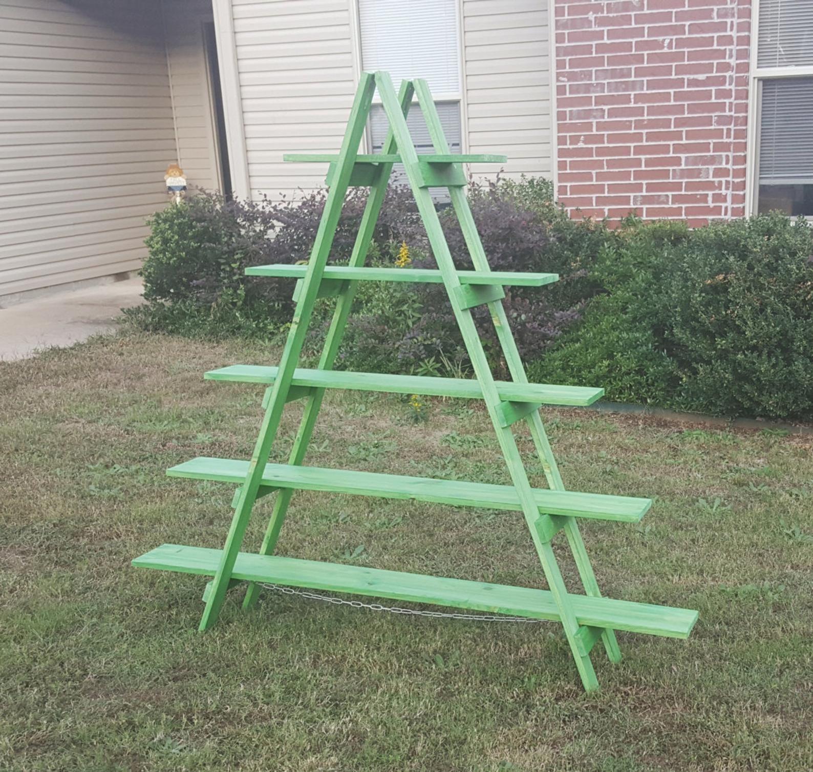 6 Ft Wooden Ladder Christmas Village Display Craft Show Display Portable Display Display Stand Trade Show Display Wooden Shelves Christmas Village Display Craft Fair Displays Christmas Display