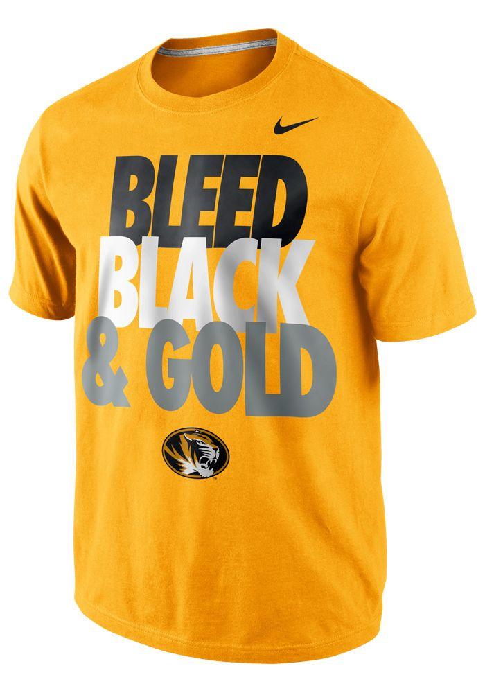 Missouri Tigers Nike T-Shirt - Mens Gold Local Bleed T-Shirt http: