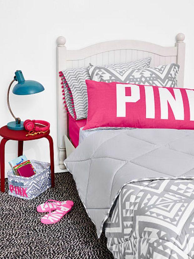 reversible quilted comforter  pink  victoria's secret