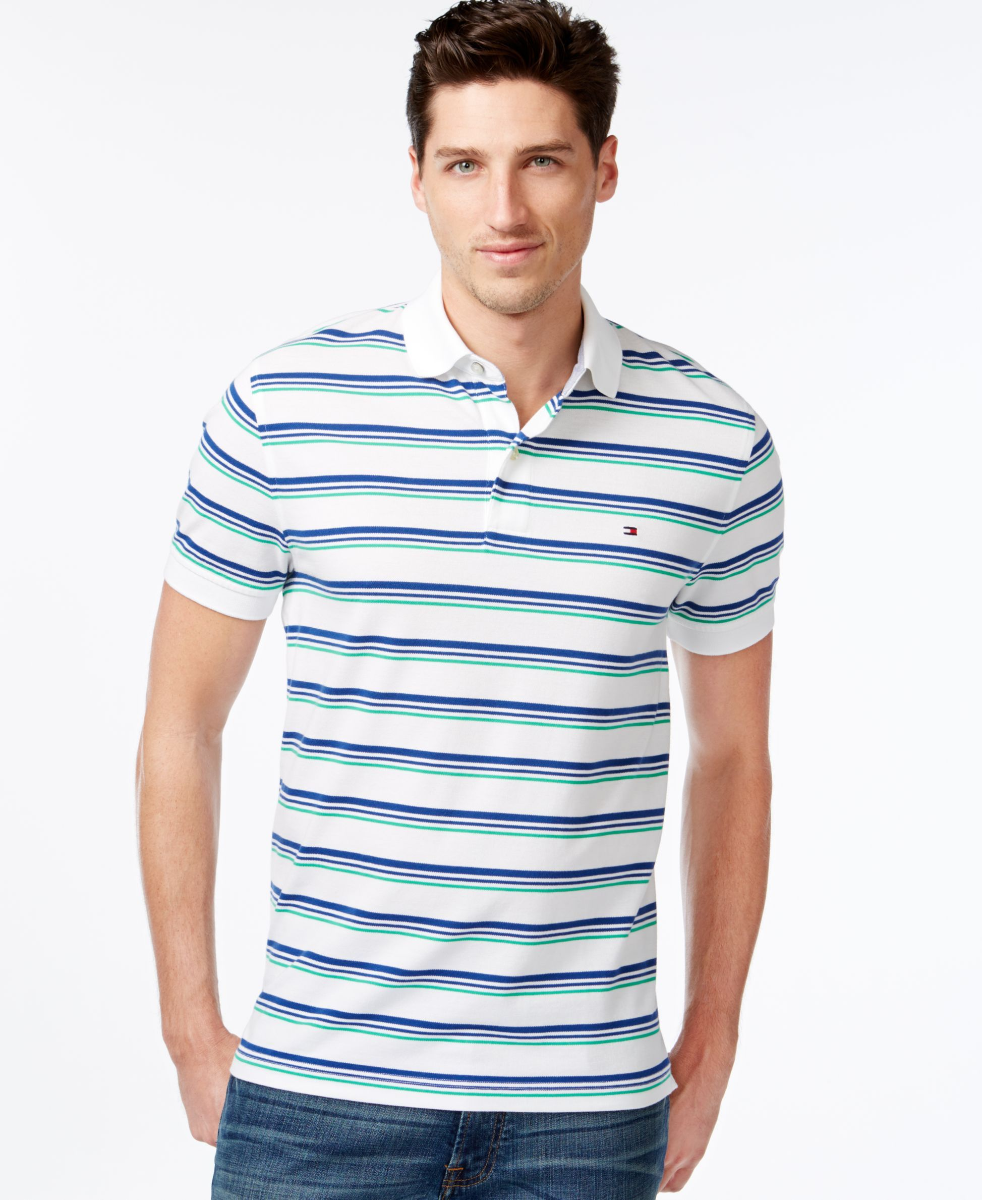 96df2730 Tommy Hilfiger Darius Stripe Polo Lacoste Polo Shirts, Polo T Shirts, Polo  Online,