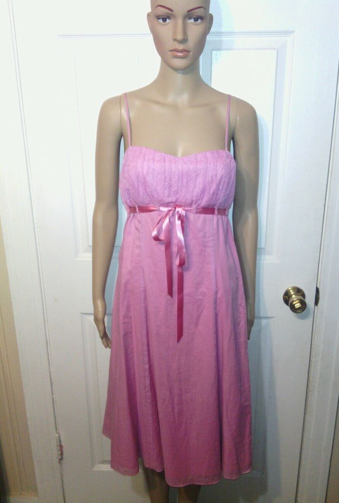 Betsey Johnson dress SZ 10 jr pink lace designer VGUC party ...