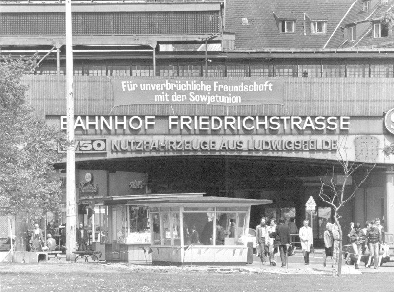 Ost Berliner Bahnhof Friedrichstasse East Germany Berlin Germany West Berlin