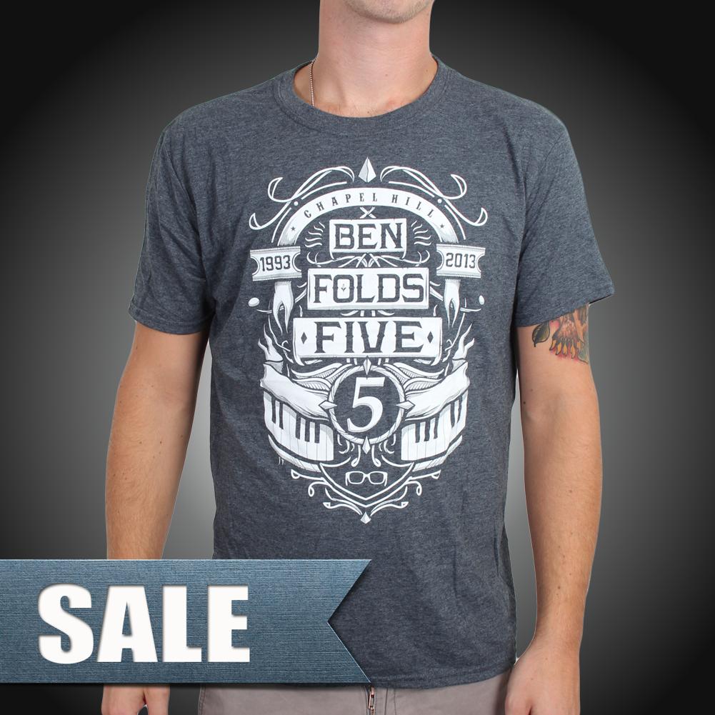 Black t shirt ben folds - Ben Folds Five Marquee Design On A Grey Unisex T Shirt