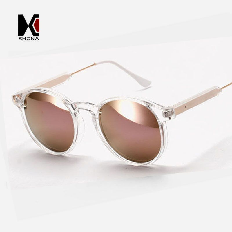 SHAUNA Runde Sonnenbrille Marke Designer Frauen Keyhole Sonnenbrille ...