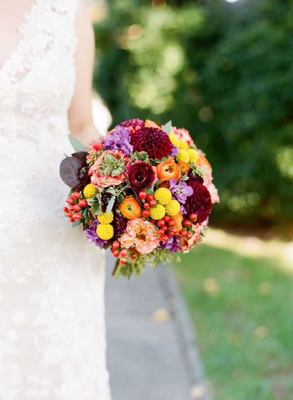 colorful fall bouquet by Holly Chapple | photo by Kate Headley