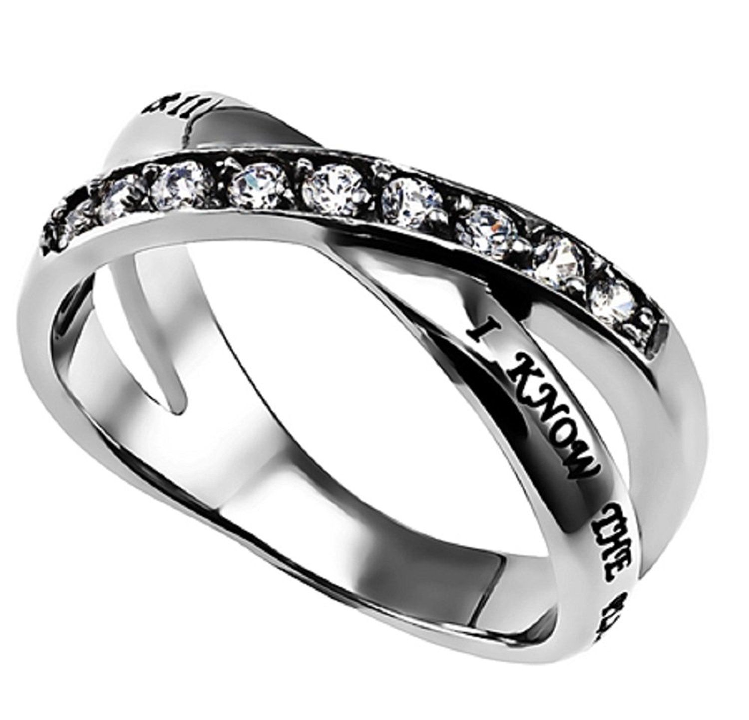 I Know The Plans Radiance Ring Silver Stainless Steel With Verse