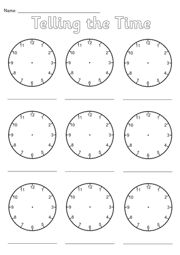 Blank Clocks Worksheet Clock Worksheets Blank Clock Blank Clock Faces