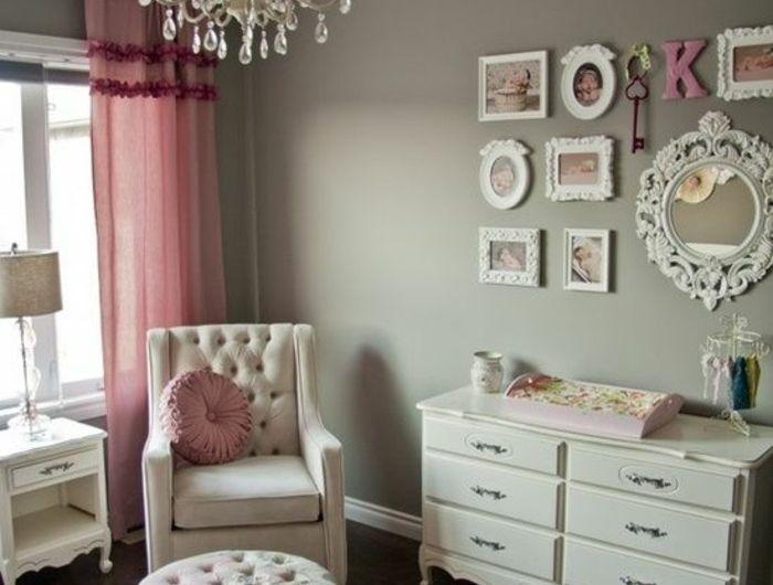 1001 conseils et ides pour une chambre en rose et gris sublime - Chambre Bebe Beige Et Gris