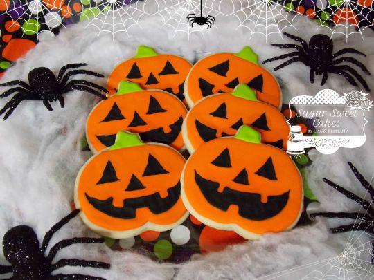 Jack O\u0027 Lantern Cookies cookies Pinterest Sugar cookies - halloween pumpkin cookies decorating