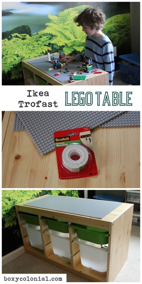 kids craft diy ikea trofast lego table diy ideas pinterest lego table lego and lego table. Black Bedroom Furniture Sets. Home Design Ideas