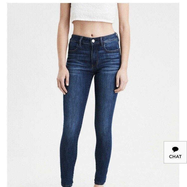 Jeans American Eagle Outfitters Womens Sz 6 Regular Super Super Strech New Ebay Super Stretch Jeans American Eagle Skinny Jeans Low Rise Skinny Jeans