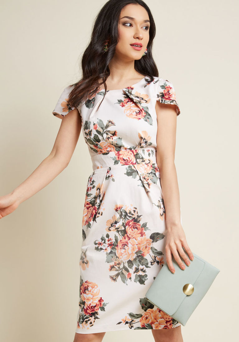 Sample Your Style Sheath Dress in L - Cap Midi 8767e81b3724