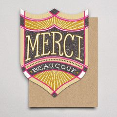 HAMMERPRESS | Merci Beaucoup Badge thank you card
