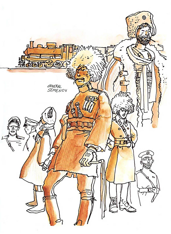 Hugo Pratt - Corto Maltese in Siberia (1979) - General Semenov, Cossacks