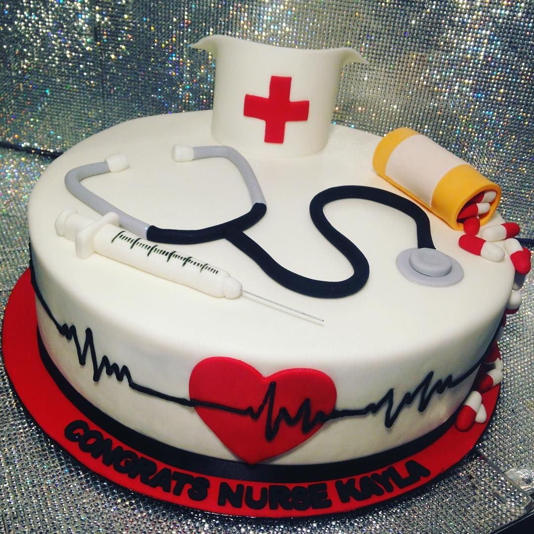 Nurse Graduation Cake Showboy Showboybakeshop Bakery