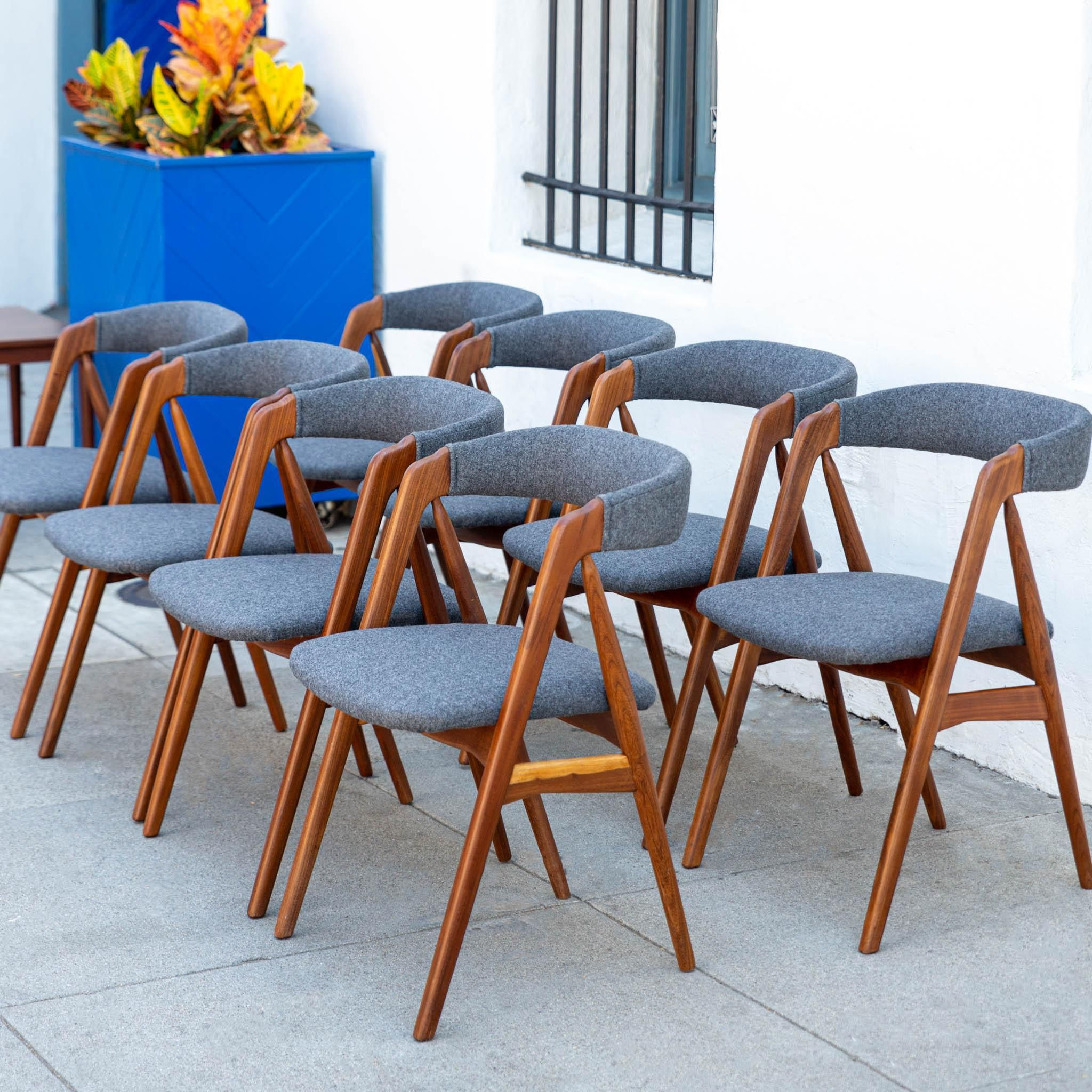 Danish Modern Teak Dining Chairs Set Of 8 Chairish Dining Chairs Chair Teak Dining Table Set of 8 dining chairs