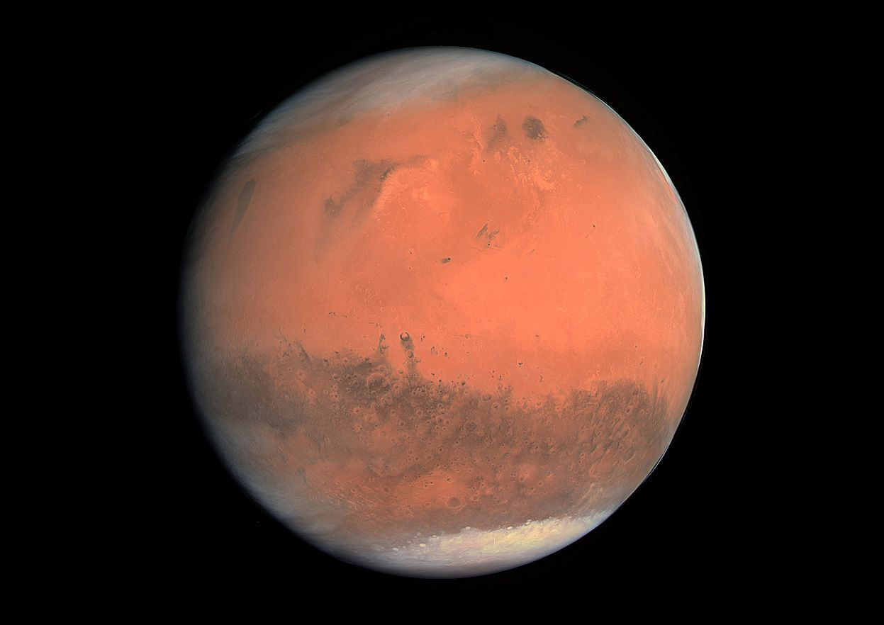 Rosetta S Swingby Of Mars True Colour Image Mars Planet Planets Red Planet