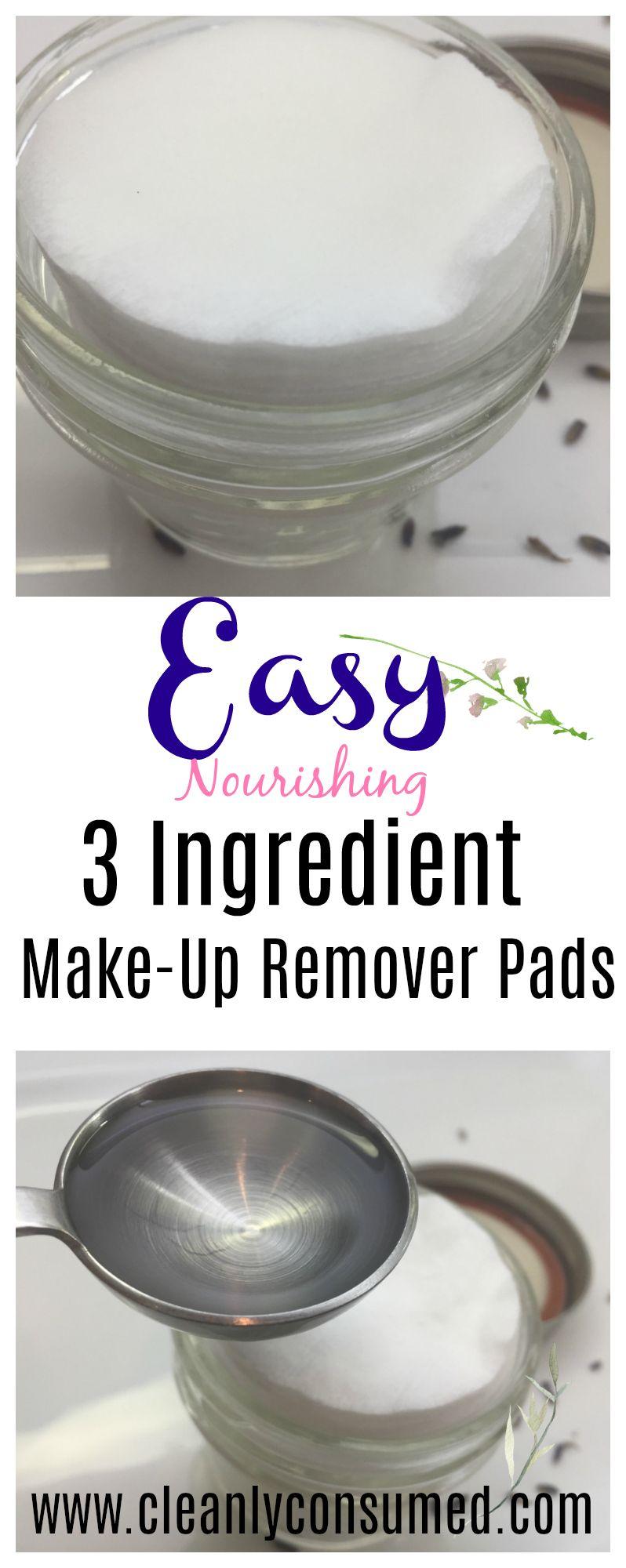 Simple Eye Make Up Remover Pads Diy makeup remover, Eye