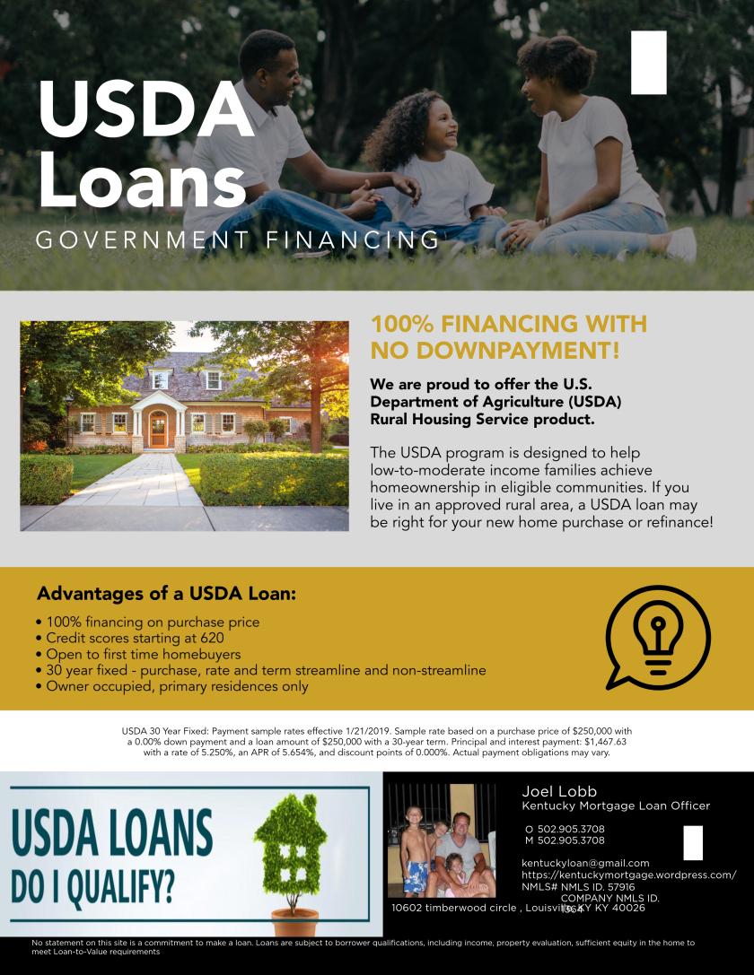 Kentucky Rural Housing Usda Loan Program In 2020 Usda Loan Usda Loan
