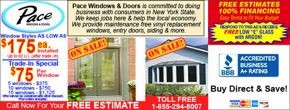 Pace Windows and Doors sales! Save on energy bills with our windows - save on your windows with our coupons! Valpak coupon