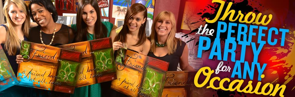 Bachelorette party ideas painting parties and private for Private paint party