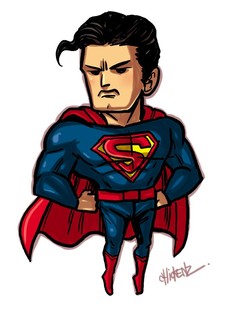 Superman fan art little superman by chickenzpunk - Superman wonder woman cartoon ...