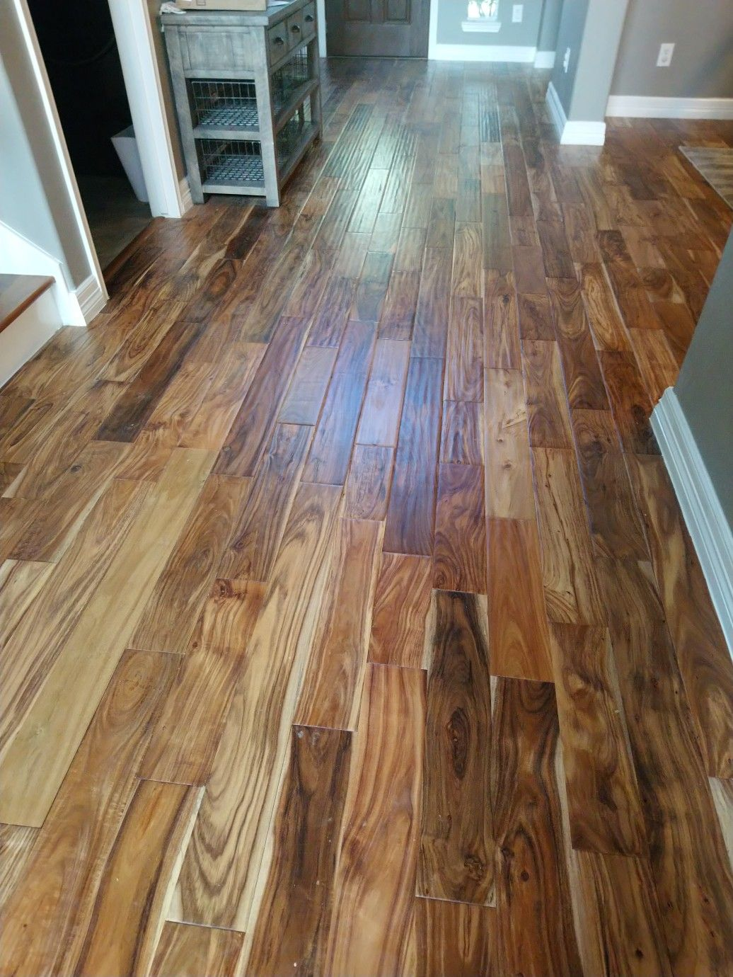Solid locking Acacia hardwood flooring installed in Deer