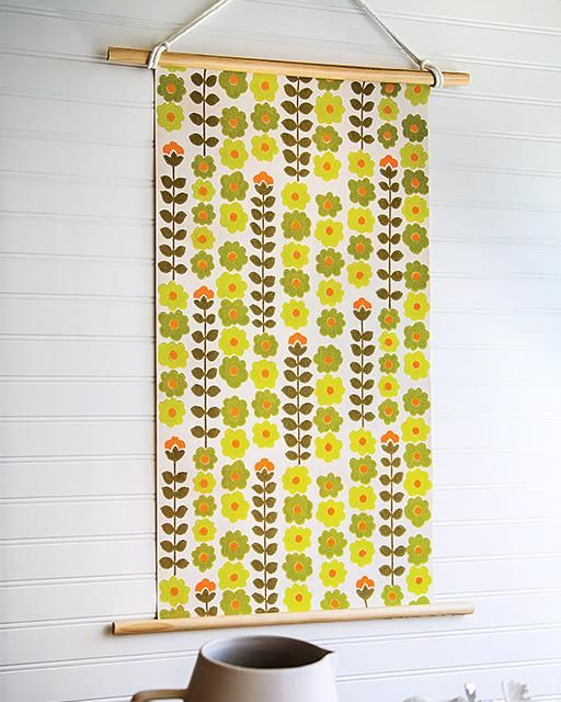 Vintage Wallpaper Wall Hanging | Vintage wallpapers, Sweet paul and ...