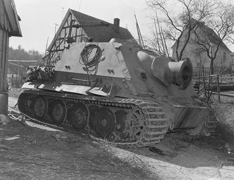THE STURMTIGER. One of the few pictures of this wonderful beast!! Only 18 built during the war. Fires a 380mm rockets with a big explosion following, proper German fireworks!