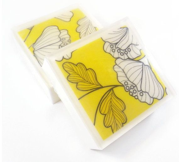 Lemon Lemon Lemon  Scented Bright Yellow Floral and Leaves by Logi, $5.75