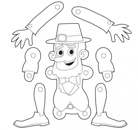 St. Patrick's Day Printable for Kids: Leprechaun Puppet