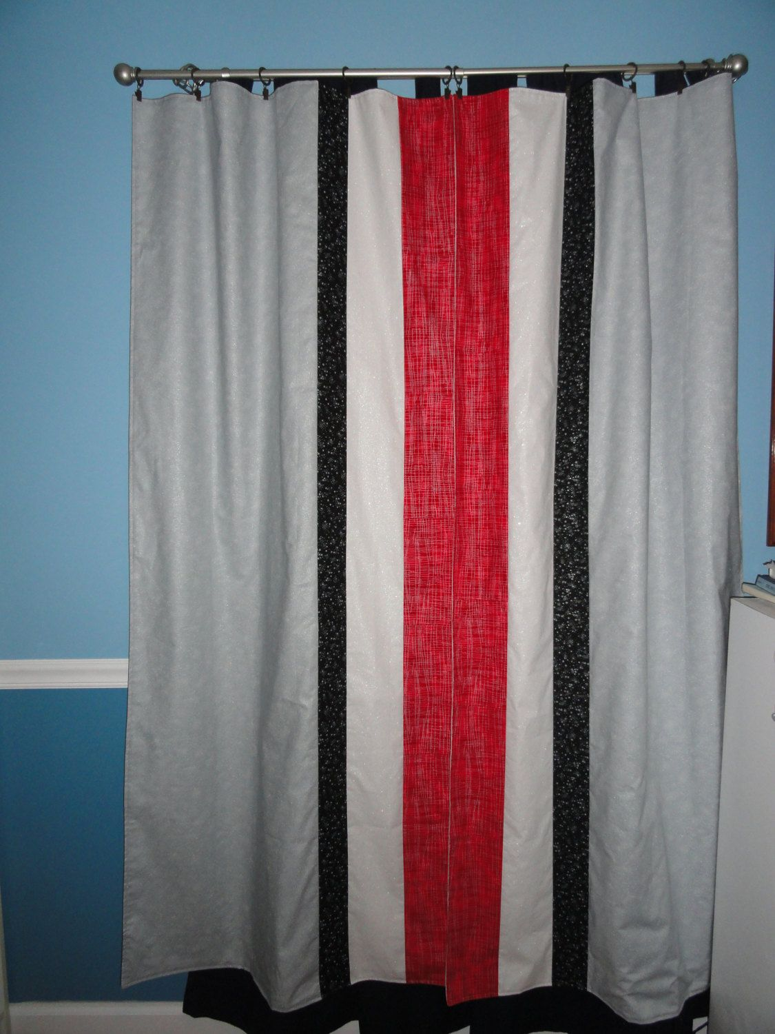 I Could Make These Lisa Ohio State Curtains Stripes Of Pride Curtains 150 00 Via Etsy Ohio State Rooms Ohio State Bedroom Ohio State Decor