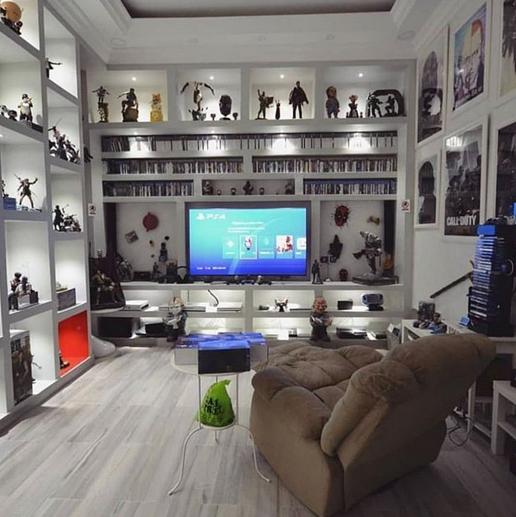 Sala hobby nel 2019 camere con videogioco bar in casa e for Design stanza ufficio
