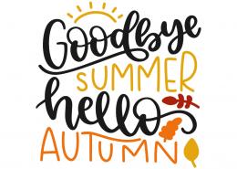 Goodbye summer hello autumn | Lovesvg.com #helloautumn