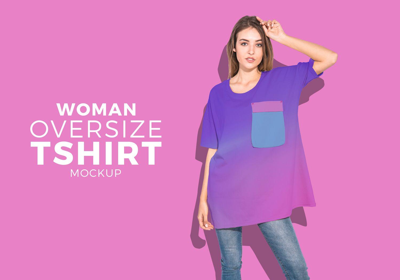 Download Oversize Women T Shirt Psd Mockup For Ultimate Trendy Look Women Tshirt Fashion Style Psd Mockup Shirt Mockup Oversize Women T Shirts For Women
