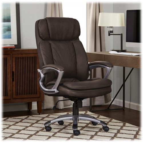 Serta Big And Tall Bonded Leather Executive Chair Chestnut 43675a