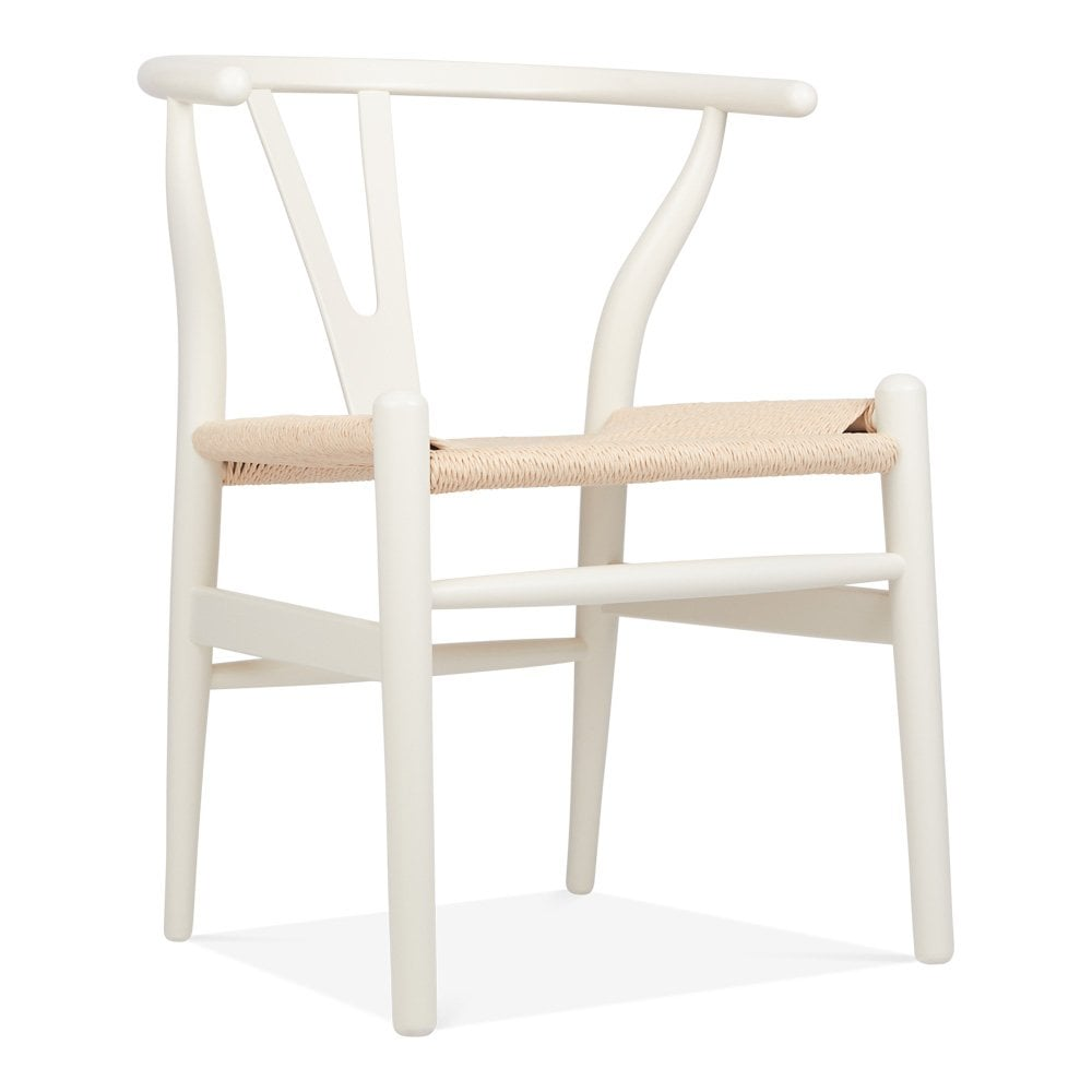 Danish Designs Wishbone Wooden Dining Chair, Natural Weave