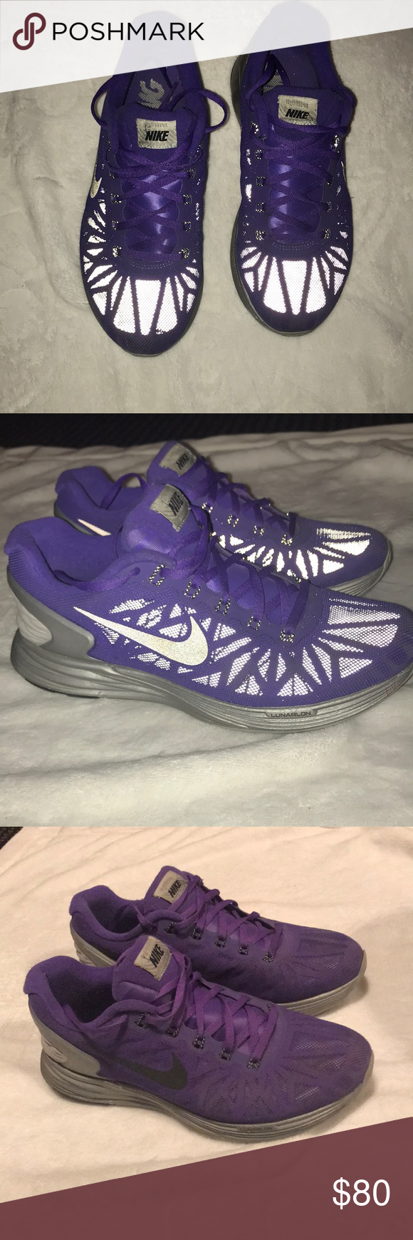 watch fa083 b930f Nike Lunarglide 6 (h2o repel) flash!! Purple flash shoes!! Super comfy  barley worn! Great condition!! Nike Shoes Sneakers