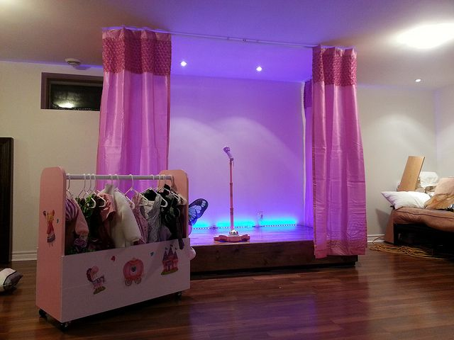 ... Stage on Pinterest | Playrooms, Staging and Shower Curtain Rods