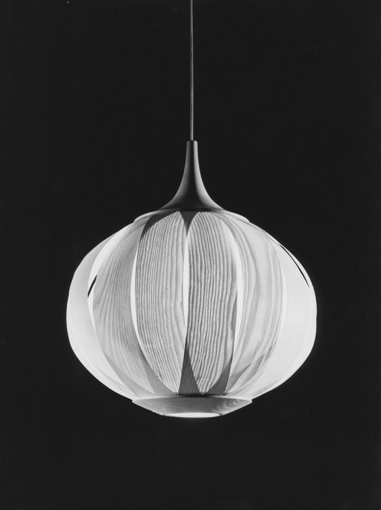 Ceiling lamp in black & white 1958