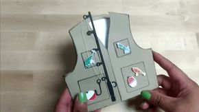 Download Fishing Vest Card Template Fishing Vest Cards Fish Paper Craft
