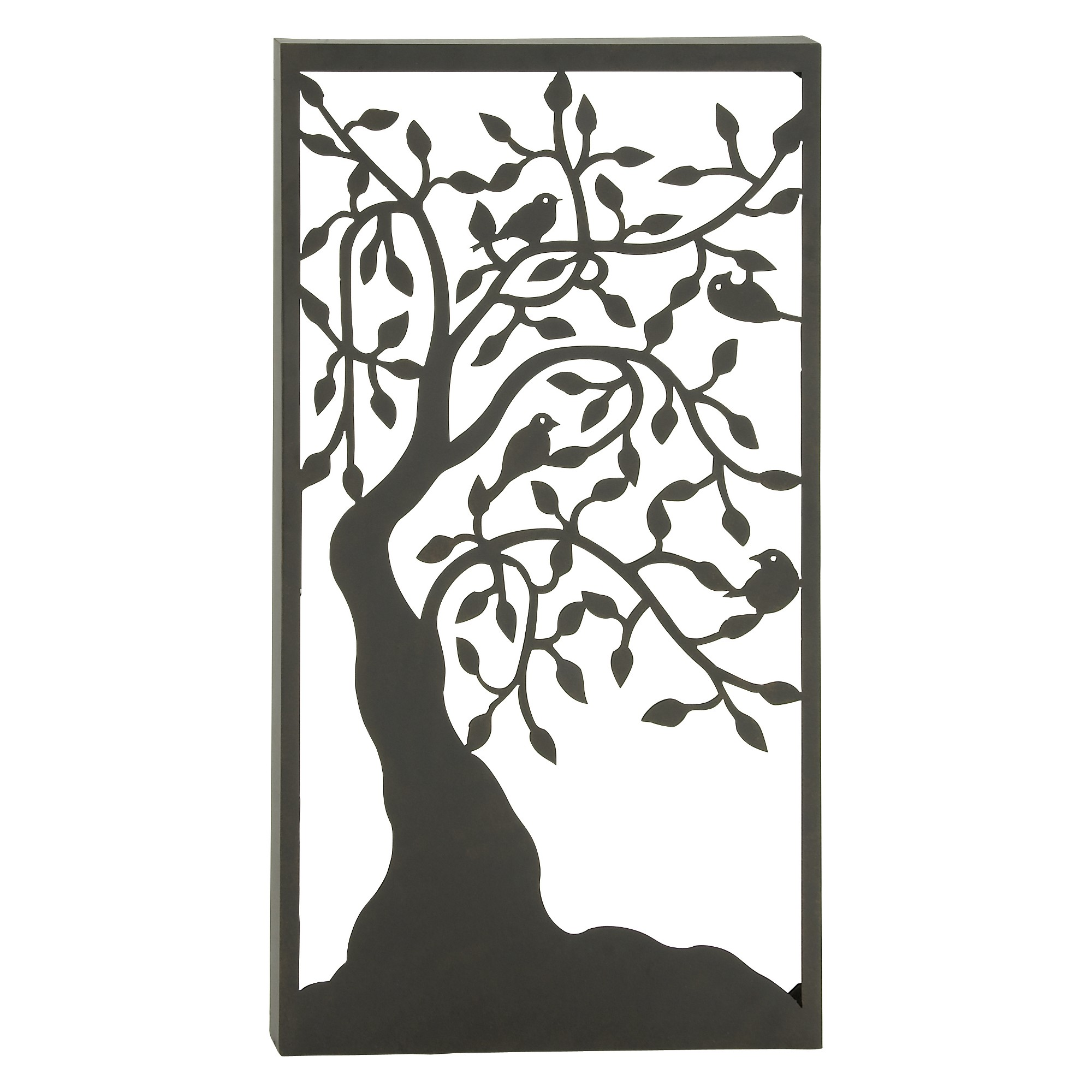 H iron outdoor wall art black olivia u may products