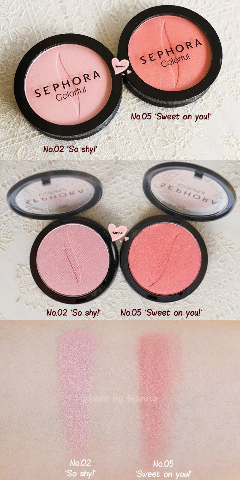 8e6e8135c1 SEPHORA Colorful Blush: 02 'So shy!' and 05 'Sweet on you ...