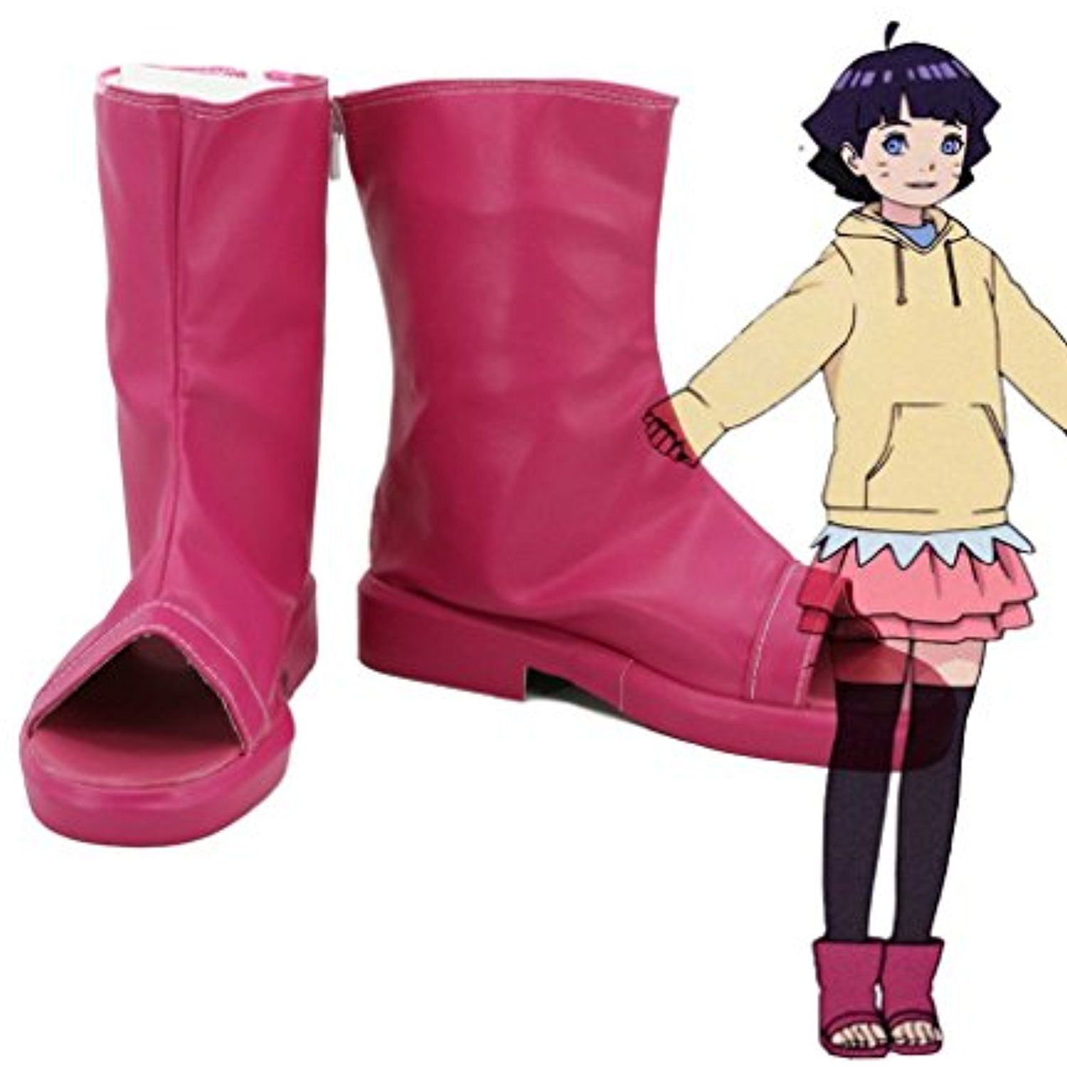 Boruto: Naruto the Movie Uzumaki Himawari Cosplay Shoes Boots Custom Made