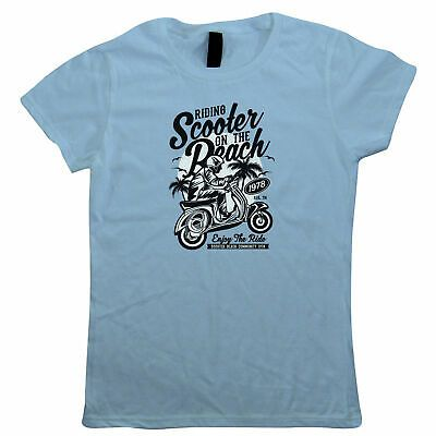 Scooter Beach Womens T-Shirt – Motorbikes Gift Her Mum #fashion #clothes #shoes …