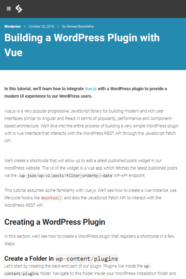 In this tutorial, you'll learn how to integrate Vue js with