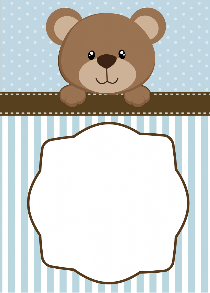 Neutral Teddy Bear Baby Shower Invitations | Cards,labels, etc ...