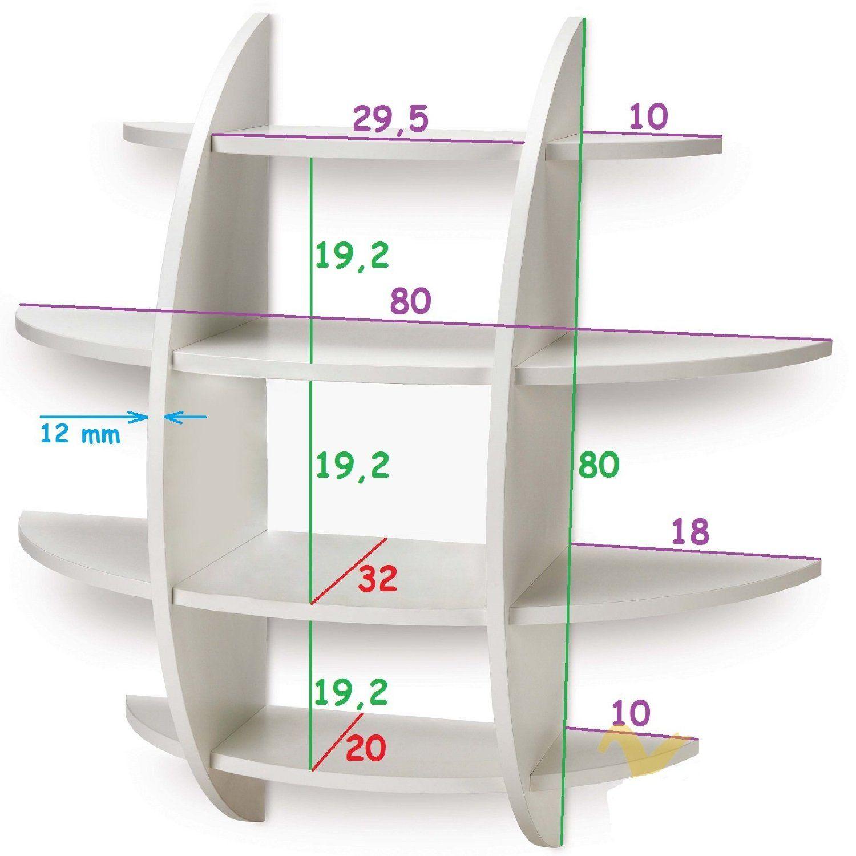Mensola sferica design libreria da parete camera cucina for Imitazioni mobili design
