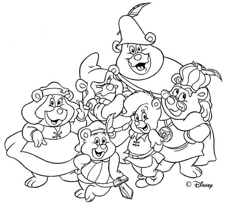 Gummi Bears Ausmalbilder Niedliche Illustration Malvorlagen